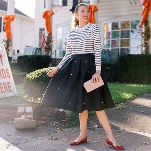 Pearl embellished skirt